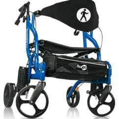 Walker Roller Chair Sit To Stand Norms Hugo Rollator 943 Transport Wheelchair Side The
