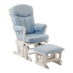 Blue Glider Chair Pockets For Classroom Bugaboo Bee Peg Perego Double Strollers Phil And Teds Bumbleride Shermag Chanderic Rocker Ottoman In Gingham 37908