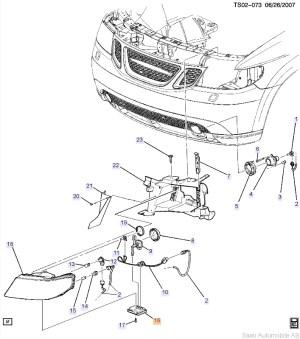 Genuine Saab 97 Xenon Headlight Control Module