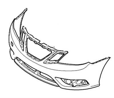 Genuine Saab 9-3 Aero Front Bumper Cover (2008+) WITH