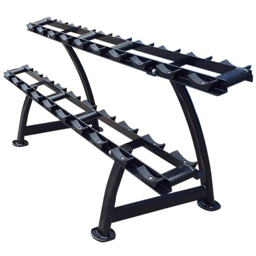 french fitness 2 tier saddle dumbbell rack 10 pairs new