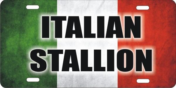 Italian flag Italian Stallion personalized novelty front
