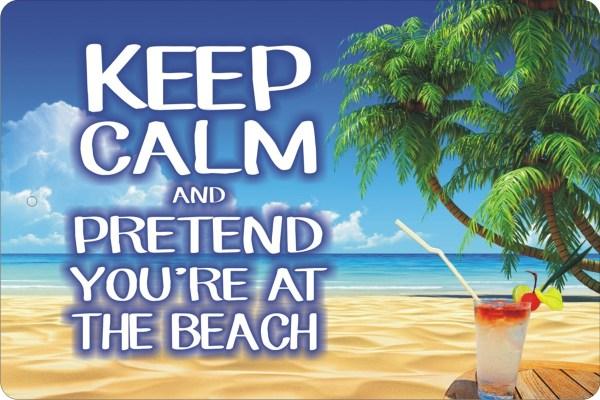 Calm And Pretend ' Beach Personalized