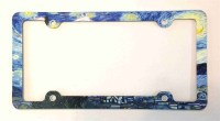 Van Gogh Starry Night License Plate Frame, Decorative ...