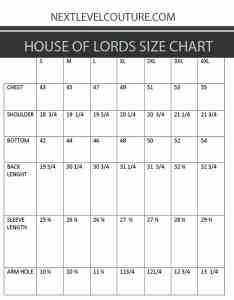Left click image to see full size chart also house of lords clothing men dress shirt measurement rh nextlevelcouture