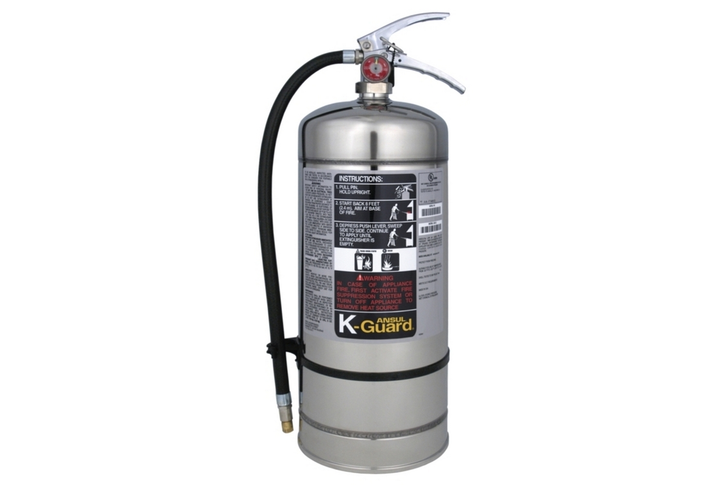 fire extinguisher for kitchen use jeffrey alexander island ansul k guard class 6l