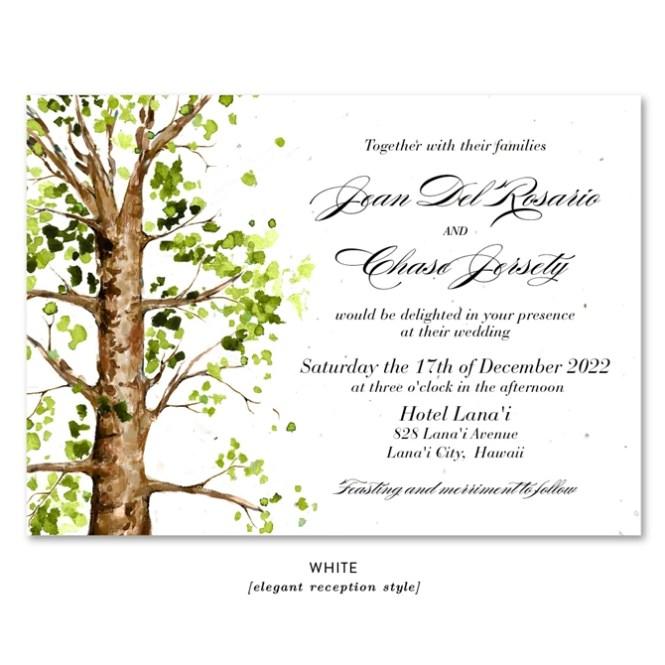 Ancient Elm Wedding Invitations Plantable