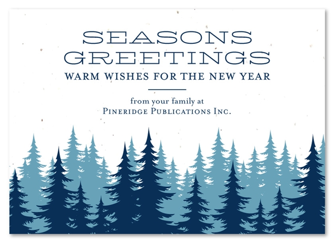 Company Holiday Cards North West By Green Business Print