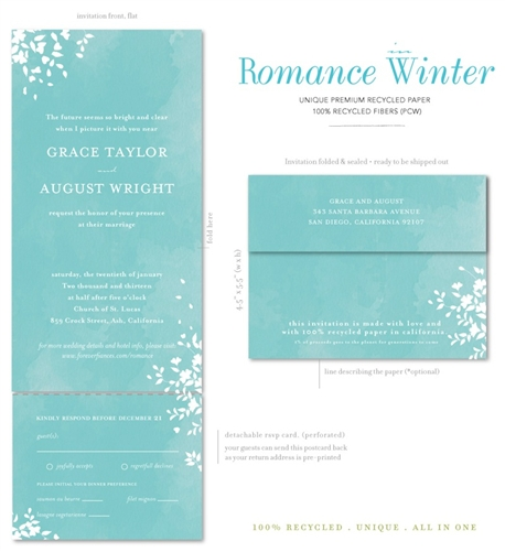Seal And Send Wedding Invitations Are The Most Eco Friendly Invitation Options Around