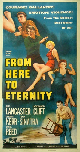 Image result for From Here to Eternity 1953 poster