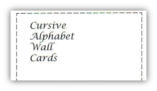 Cursive Alphabet Wall Cards