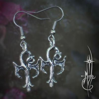 Dragon Ankh Earrings