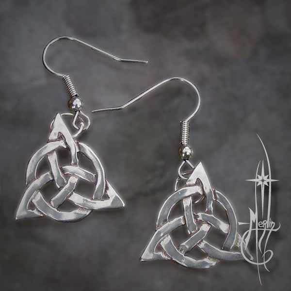 Triquetra Earrings From Amulets By Merlin Amulets By Merlins Blog