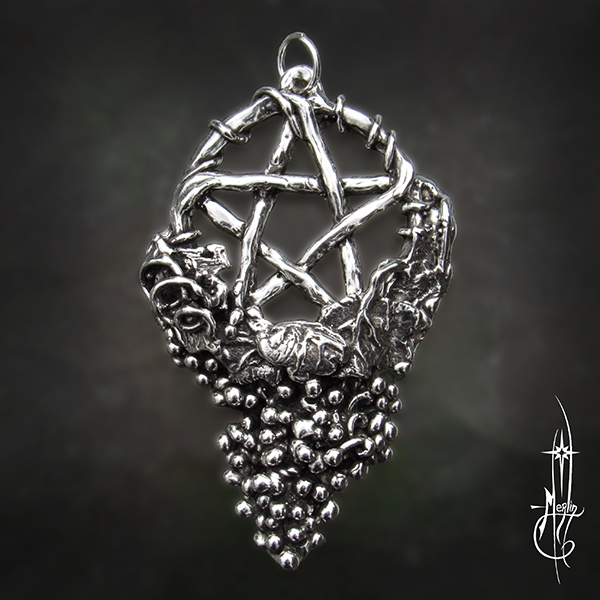 The Grape Vine Pentacle Amulet