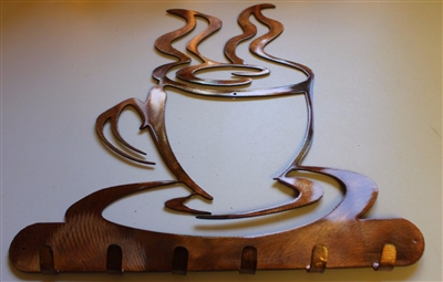 Coffee Cup KeyKitchen Utensil Holder  CopperBronze