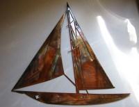 Sailboat Metal Wall Art