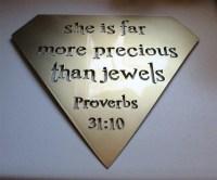 Proverbs 31:10 Metal Wall Art Decor