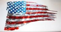 Flag Metal Wall Art, American Flag Metal Wall Art