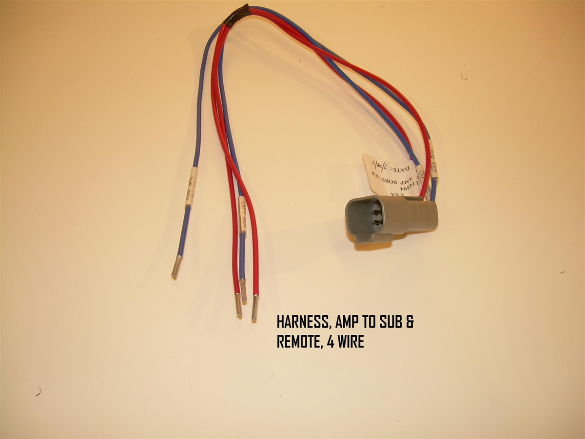 medium resolution of harness amp to sub remote 4 wire