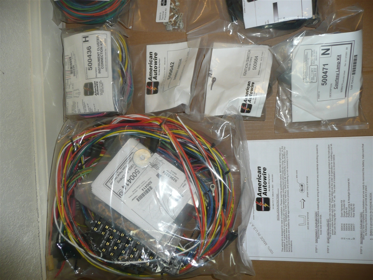 hight resolution of american autwowire complete wiring kit 1955 1956 chevy car belair bel air