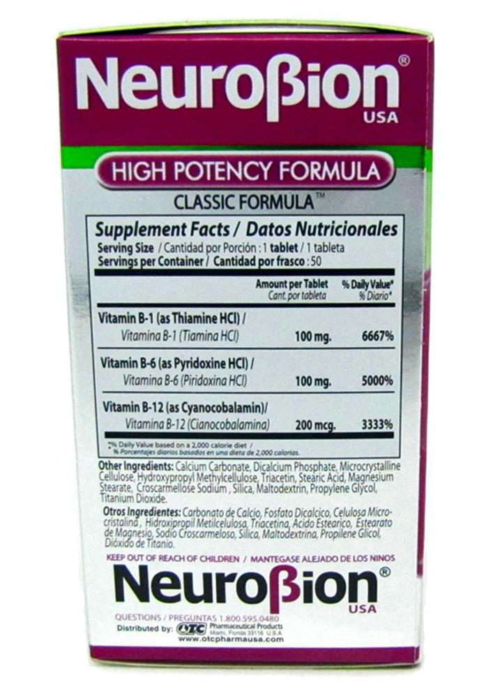Neurobion High Potency Formula 50 Tablets