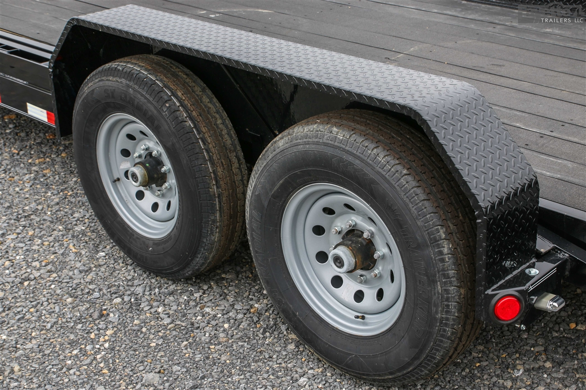 small resolution of pj trailers tandem axle steel fender 16 wheels larger photo