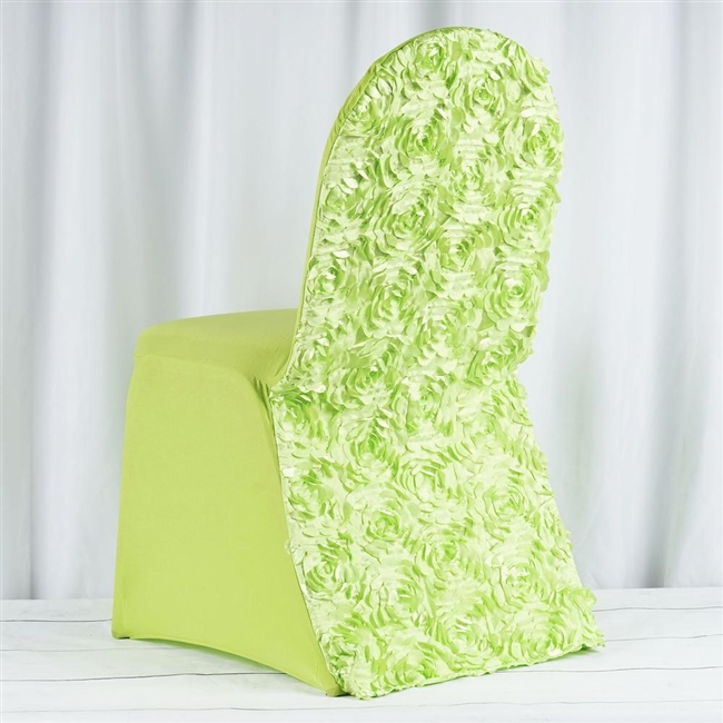 green banquet chair covers lawn chairs at lowes buy satin rosette apple spandex stretch