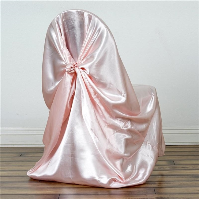 chair covers rose gold amazon slipcovers blush universal satin cover