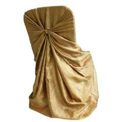 Gold Universal Chair Covers Cover Hire Coventry Crinkle Taffeta Discontinued