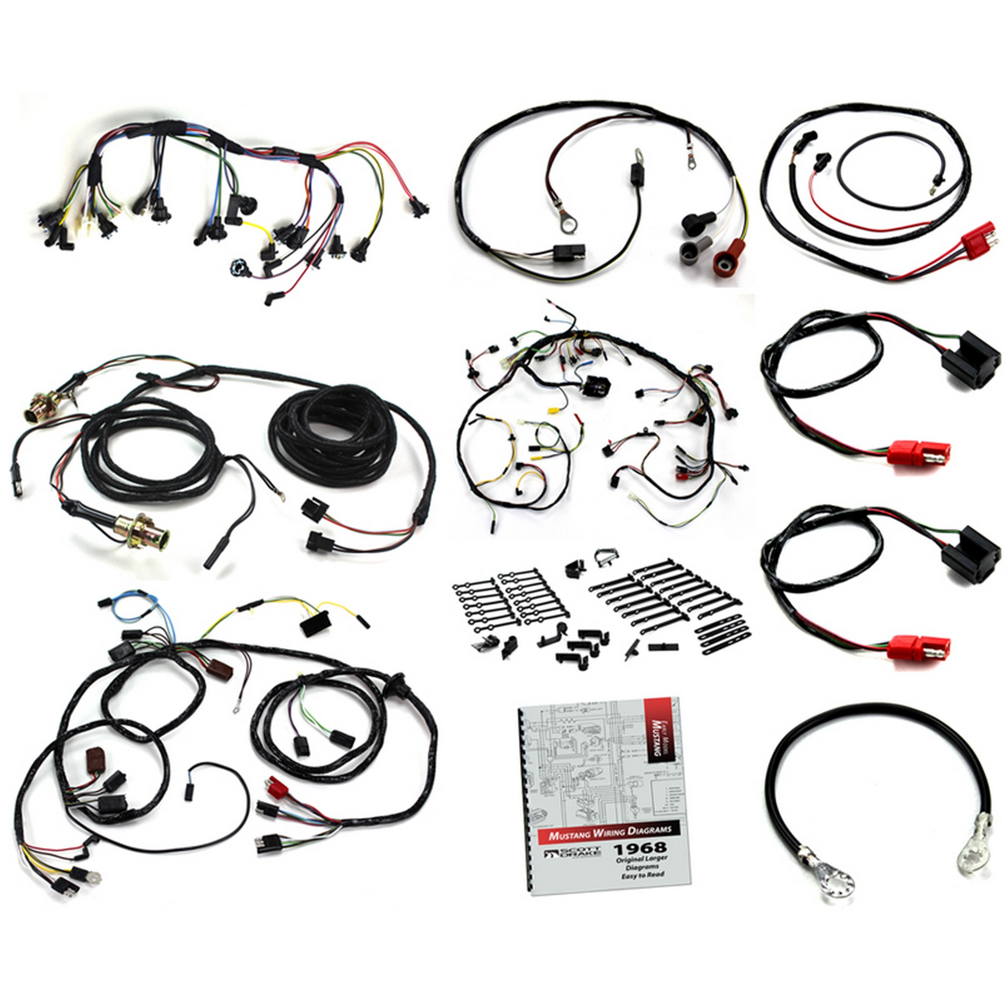 Wiring Kit Small Block V8 / with Tach / without Fog Lights