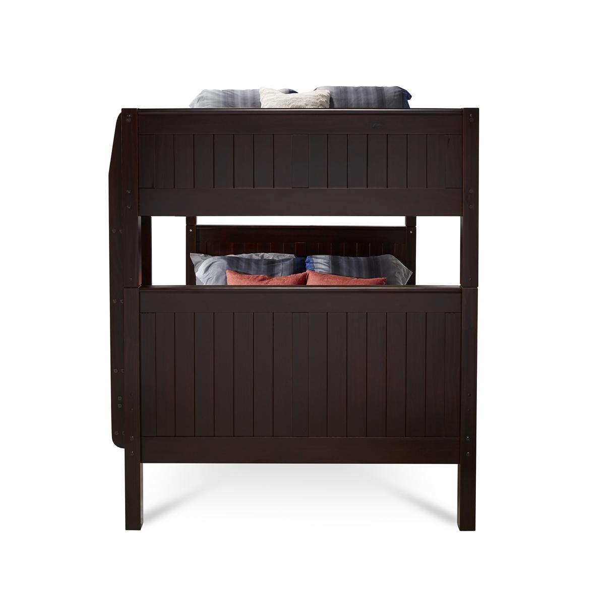 Camaflexi Full Over Full Bunk Bed Panel Headboard Cappuccino Finish