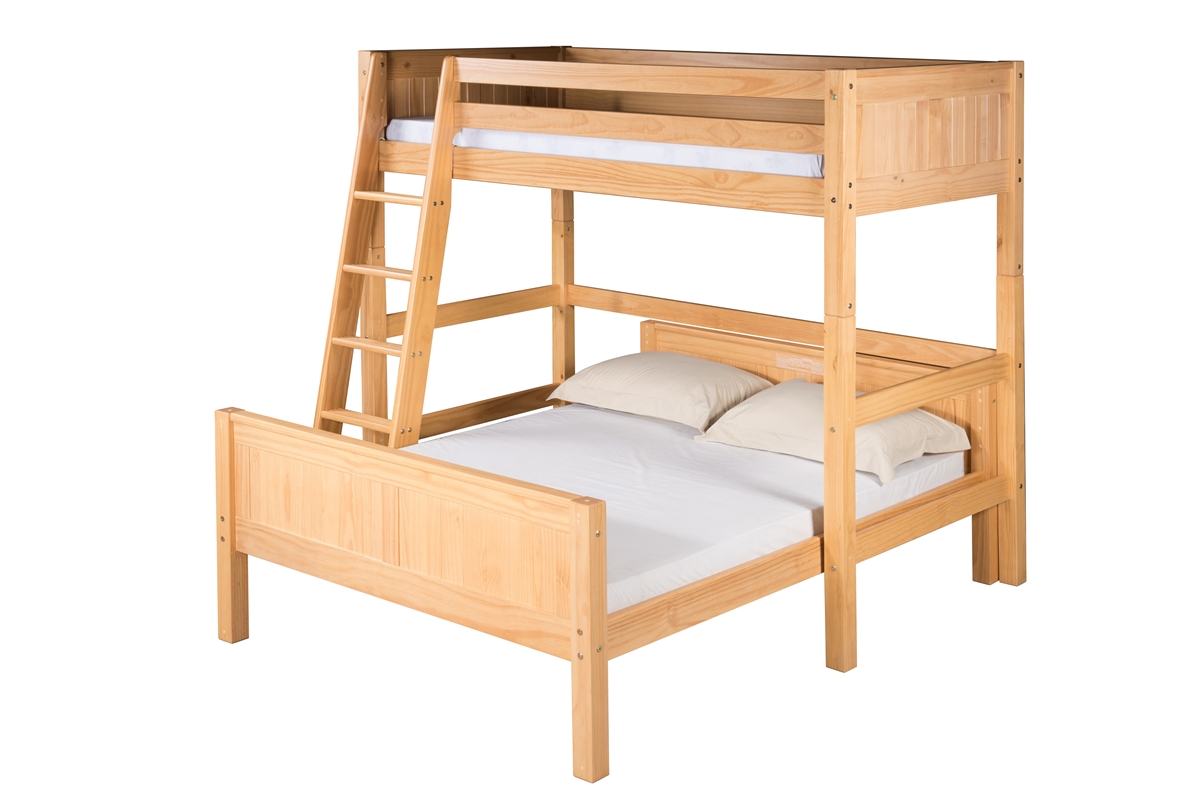 Twin On Full Loft Bed L Shape Panel Clear