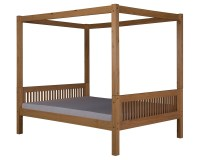 Full Canopy Bed with Trundle Mission Clear
