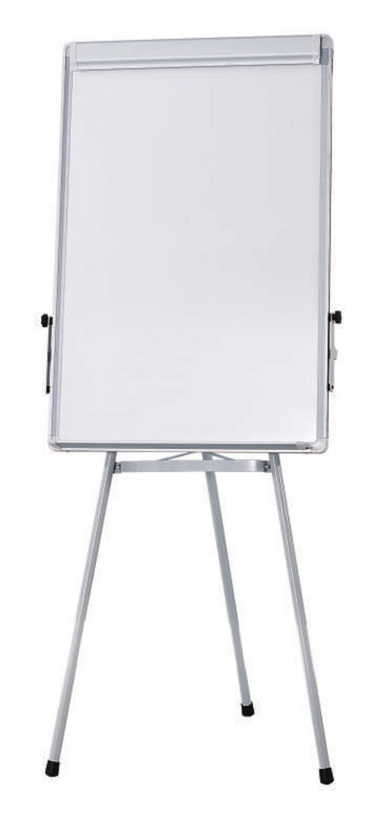 Flip chart easel with whiteboard magnetic surface tripod stand   also rh vectorsupplies