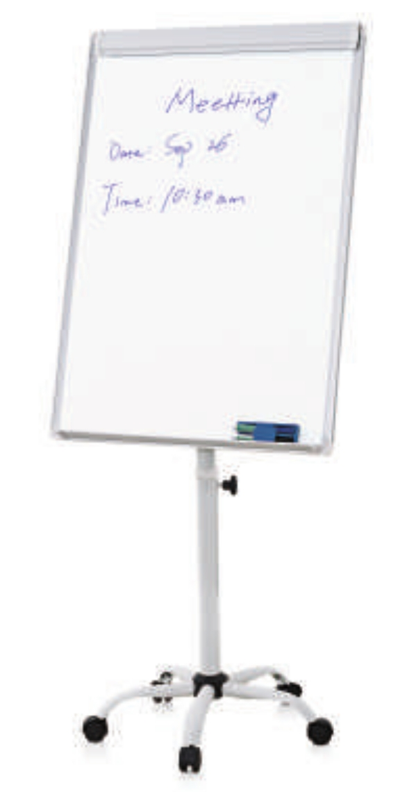 Flip chart easel with whiteboard magnetic surface rolling mobile stand  also rh vectorsupplies