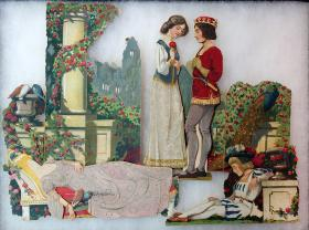 La Belle Au Bois Dormant Et Le Prince Charmant Sleeping Beauty And Prince Charming Paper Dolls Unknown France C 1890s