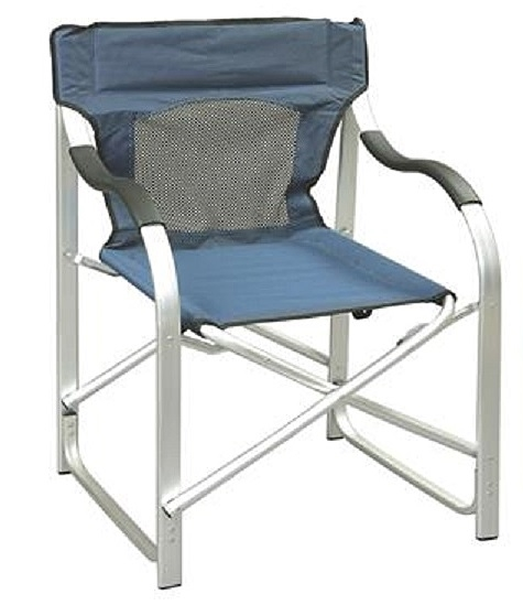 aluminum directors chair wooden office without wheels faulkner 43947 blue