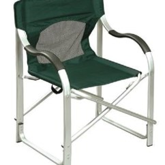 Aluminum Directors Chair Webbed Folding Chairs Faulkner 43946 Green