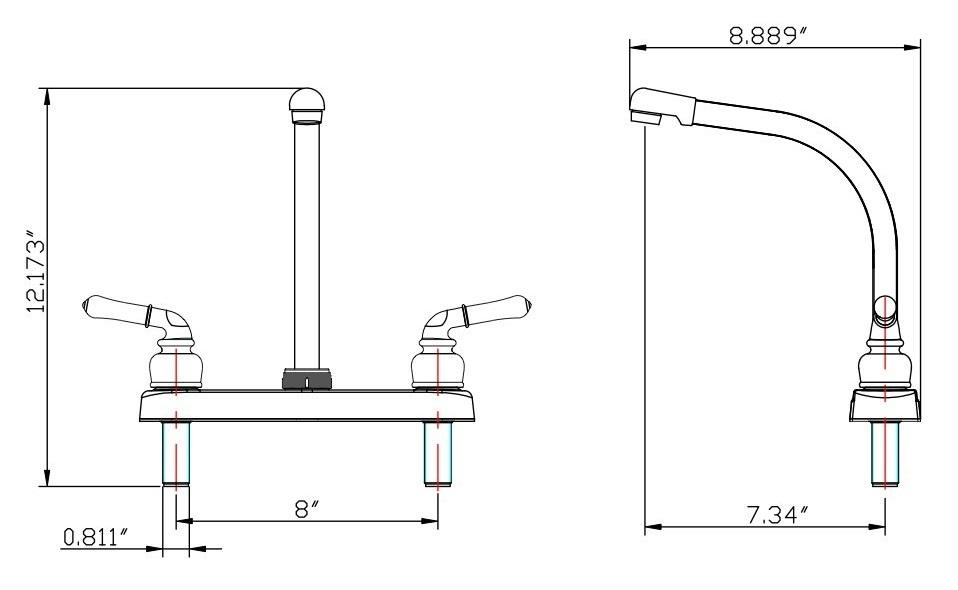 dura faucet df pk210c bq bisque classical hi rise rv kitchen faucet