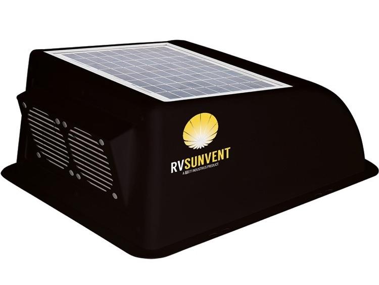 stoett sto rvb100bk rv sunvent solar powered rv vent cover black