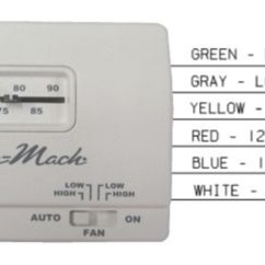 Coleman Mach Air Conditioner Wiring Diagram Pmi Knowledge Areas 7330g3351 Analog Heat/cool Rv Thermostat - 12v White