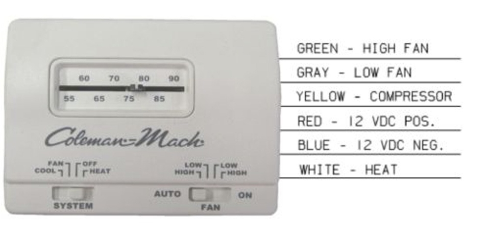 Coleman Mach 7330F3361 Air Conditioner Wall Thermostat Analog