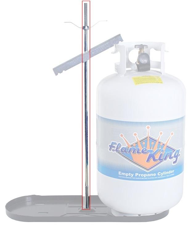 manchester tank 1807 center rod for 40 lb propane tank bottle rack