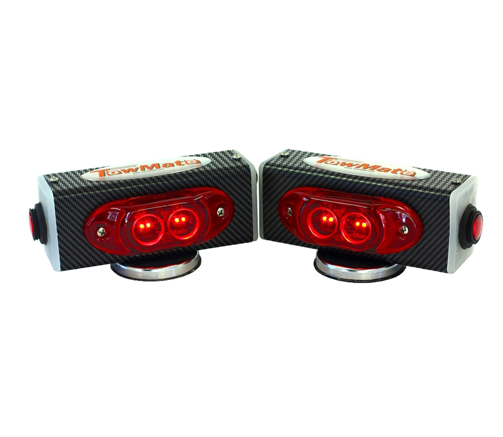 hight resolution of towmate pair of individual wireless tow lights carbon fiber