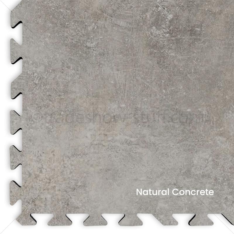 20 x 20 comfort flex concrete look vinyl interlocking tile flooring