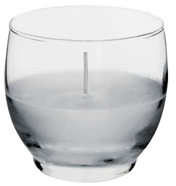 Roly Poly Votive Candle Holder With Candle Made Of Clear