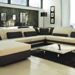 Cream Sofa Arm Covers Bed For Small E Ultra Modern And Black Leather Sectional Cp-2200