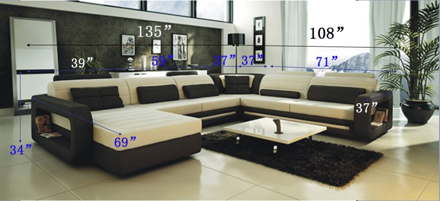 living room black leather sectional daybed ultra modern cream and sofa cp 2200