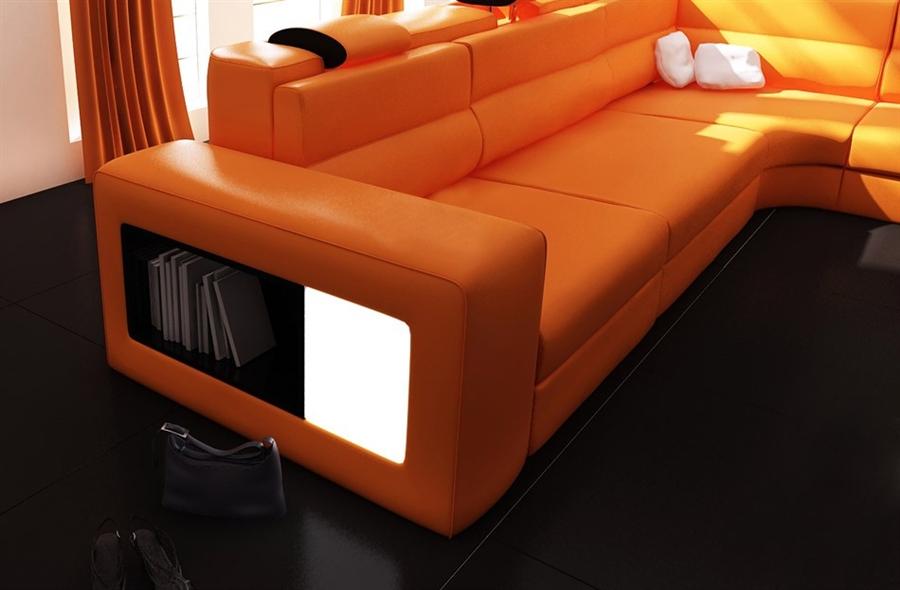 white bonded leather sectional sofa set with light overstock modern italian design polaris tos lf 2205 gm orange list price 3 750 00