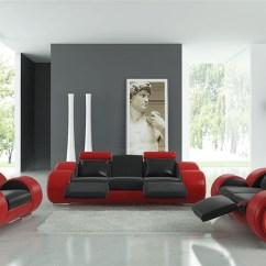 Red Sofa White Living Room Painting Ideas For With Brown Furniture Modern Black And Set Tos Lf 4088 Br